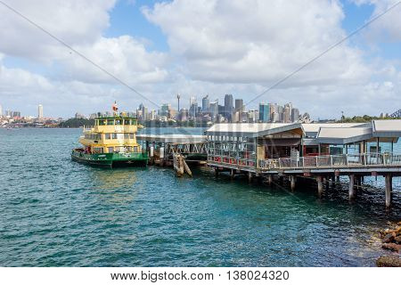 Sydney Skyline With Ferries