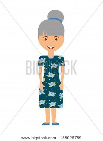 grandmother avatar isolated icon design, vector illustration  graphic