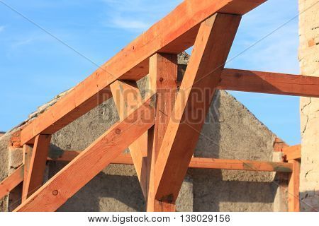 Wood structures roof purlins and posts tapes