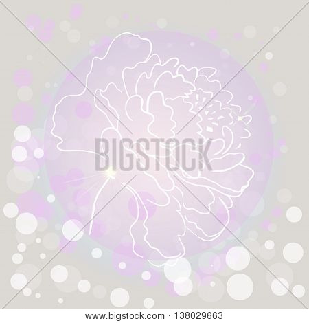 Flower contour vector illustration. Flower contour vector