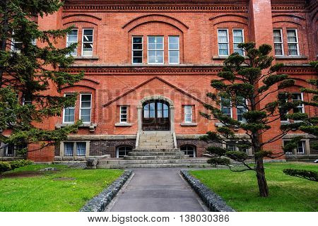Former Hokkaido Government Office With Garden