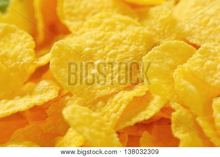 detail of corn flakes pile