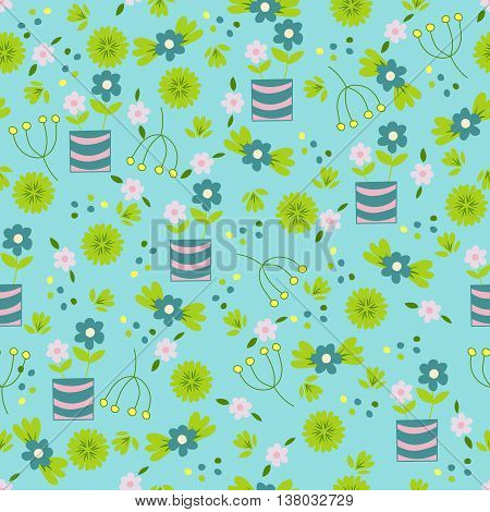 Seamless floral pattern. Colorful summer background for creating card invitation wedding and textile. Bright illustration.