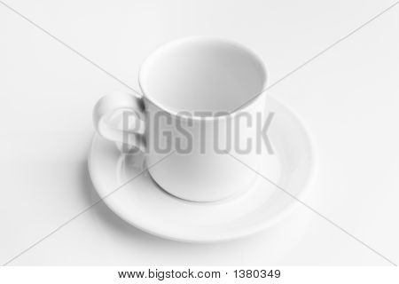 Empty Coffee Cup On A Saucer
