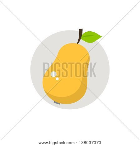 Pear icon flat, vector illustration. Pear icon vector image.