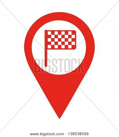 flag finish location pin  isolated icon design, vector illustration  graphic