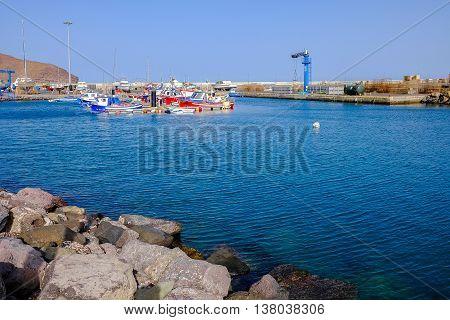 View On The Port Of Gran Tarajal In Fuerteventura, Spain. Picture Taken On 25.06.2016.