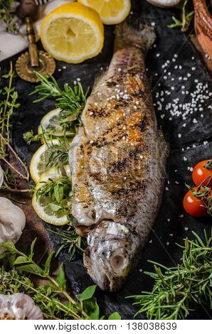 Grilled Trout With Herbs