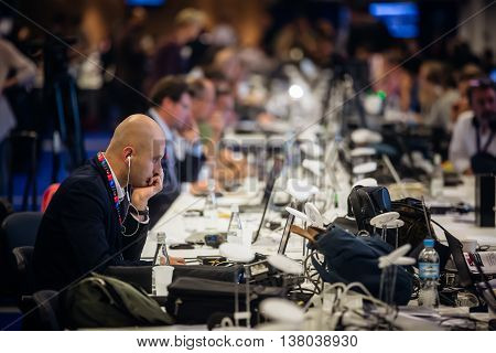 Press Center Of The Nato Summit In Warsaw