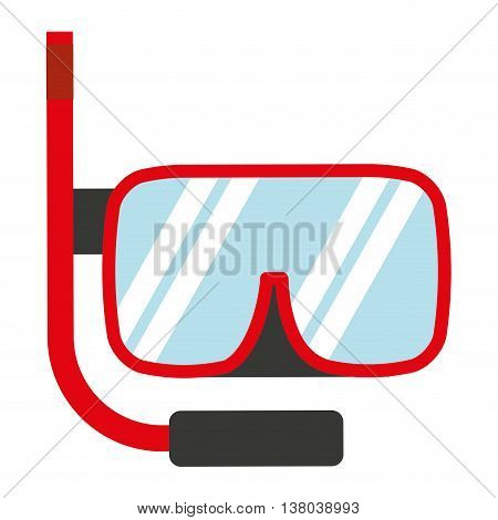 snorkel gear isolated icon design, vector illustration  graphic