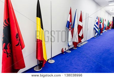 Flags Of Countries Participating In The Nato Summit