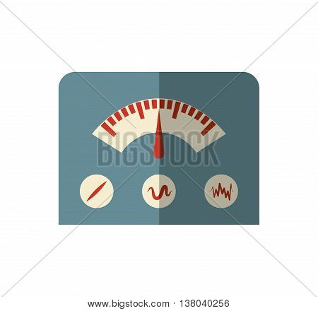 Machine concept represented by gauge icon. Isolated and flat illustration