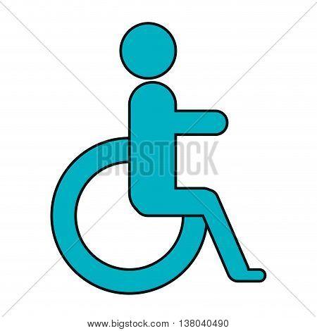 Medical healthcare blue handicap symbol, vector illustration graphic design.