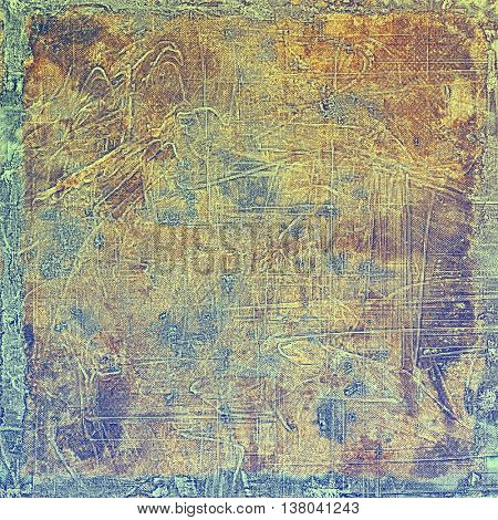 Abstract grunge background or damaged vintage texture. With different color patterns: yellow (beige); brown; green; blue; gray; purple (violet)