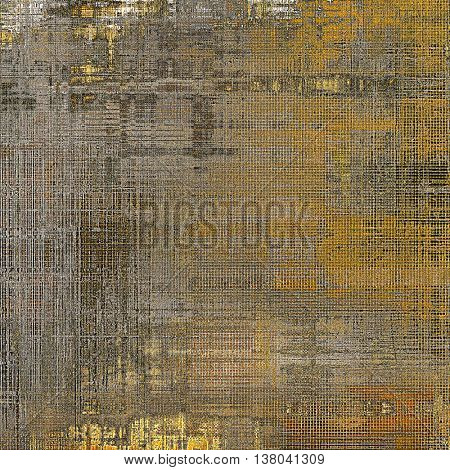 Old style distressed vintage background or texture. With different color patterns: yellow (beige); brown; gray; black; red (orange)