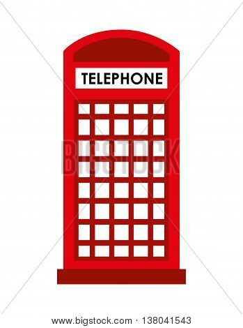 london telephone cab  isolated icon design, vector illustration  graphic