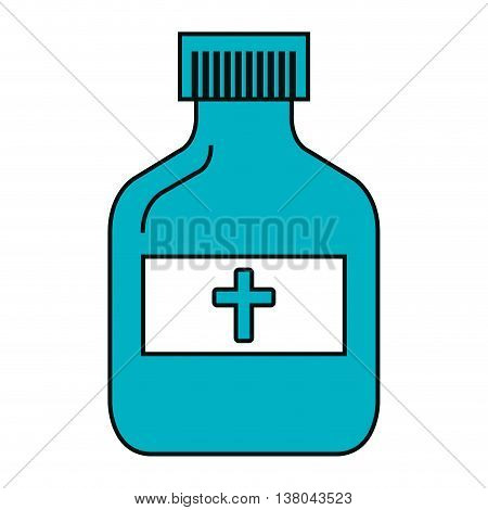 Medical healthcare ibottle solated flat icon, vector illustration graphic design.