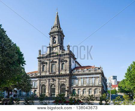 Porto Portugal - June 24 2016. Igreja da Trindade church in Porto Portugal.