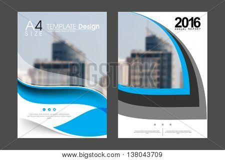 Two A4 size, geometric elements annual report marketing business corporate design template. eps10 vector