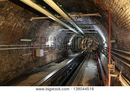 Old Tunnel Line between Karakoy and Istiklal Street in Istanbul city Turkey