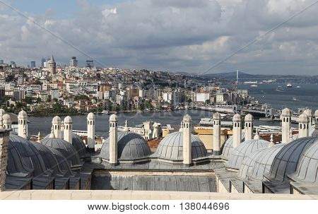 Galata And Karakoy District In Istanbul City