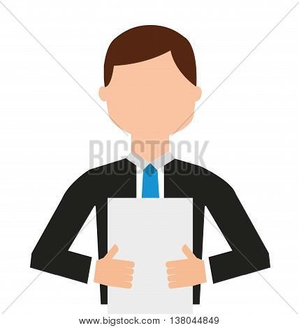 news reader  visolated icon design, vector illustration  graphic