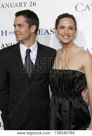 Jennifer Garner and Timothy Olyphant at the Los Angeles premiere of 'Catch and Release' held at the Egyptian Theatre in Hollywood, USA on January 22, 2007.