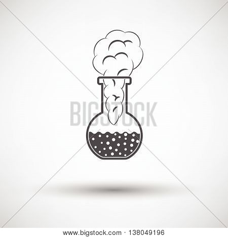 Icon Of Chemistry Bulb With Reaction Inside