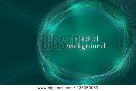 Aquamarine Abstract Mesh Background with Circles Lines and Shapes. Design Layout for Your Business and desktop screen.