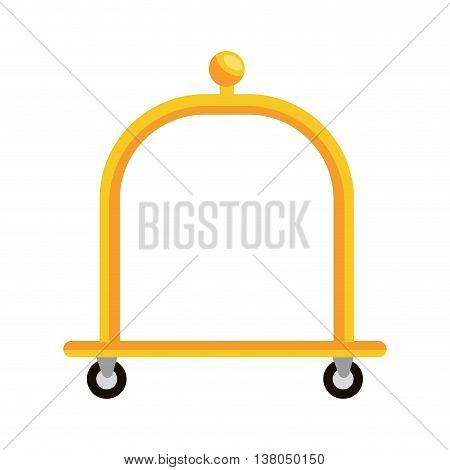 Hotel object isolated flat icon, vector illustration graphic design.