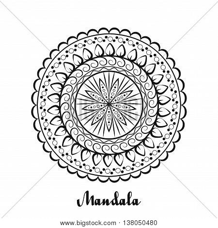 Vector background with mandala. Abstract round ornament