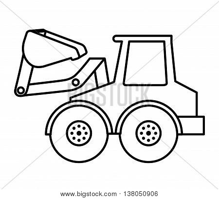 excavator isolated icon design, vector illustration  graphic