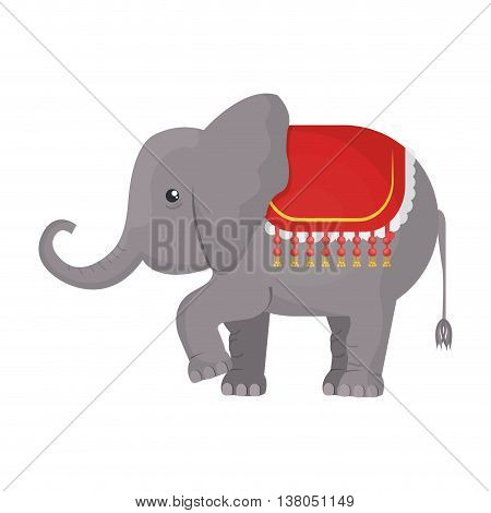 Circus Elephant cartoon design icon, vector illustration graphic.