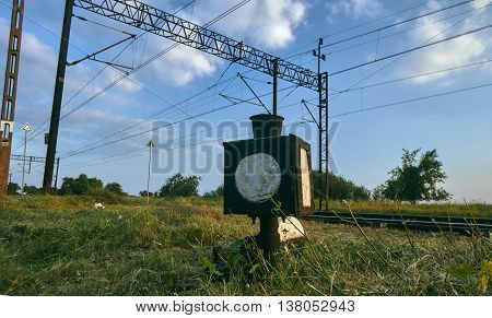 The steering station and tracks with electric traction in Poland