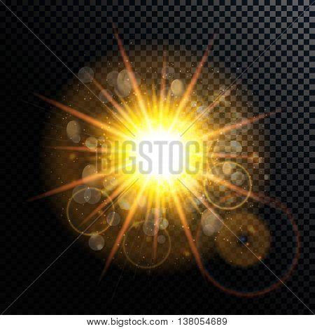 Vector Illustration of Fireworks, Salute on a Transparent Background EPS10