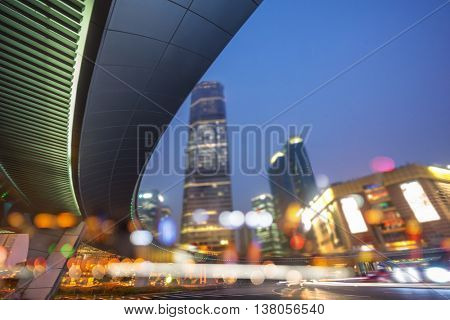 night view of downtown district,pudong shanghai