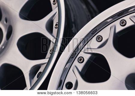 Close up of rims car alloy wheel.