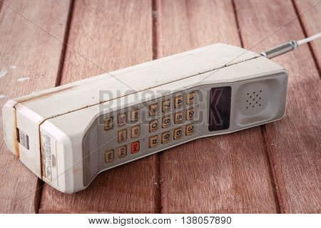 vintage mobile phone telecommunications  ( vintage style )