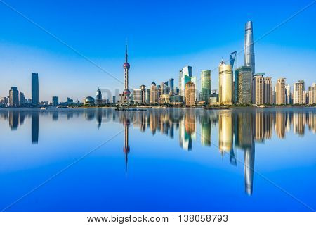 the bund of shanghai,copy space.