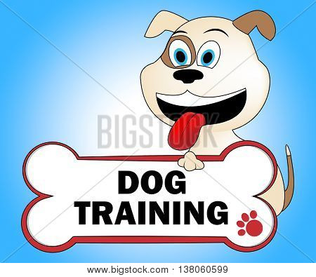 Dog Training Represents Pups Purebred And Teach