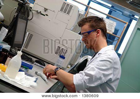 Scientist Professor Experimenting