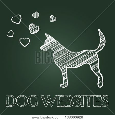 Dog Websites Represents Canines Pedigree And Pets