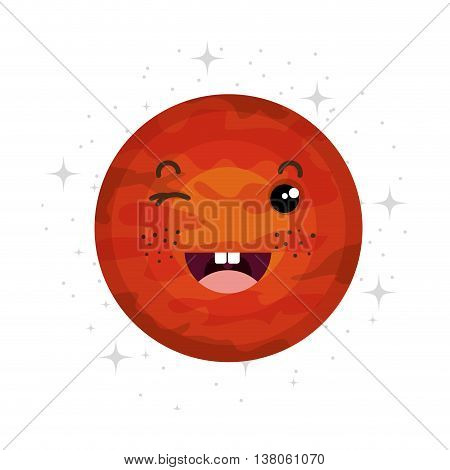 Planet of milky way galaxy, colorful isolated flat venus  icon vector illustration graphic.
