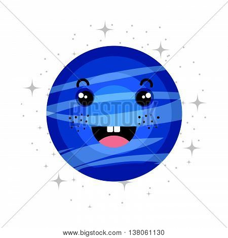 Plant of milky way galaxy, colorful isolated flat pluto icon vector illustration graphic.