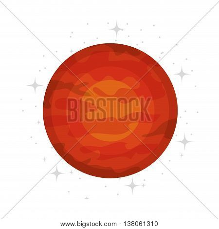 Plant of milky way galaxy, colorful isolated flat mars icon vector illustration graphic.