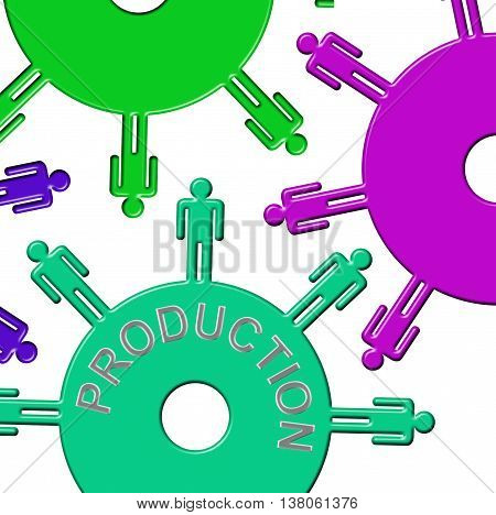 Production Cogs Means Gears Producing And Gear