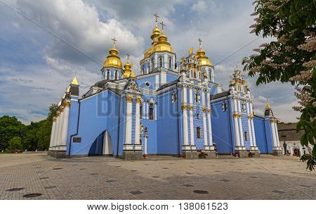 St Michaels golden domed monastery. Kiev Ukraine