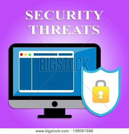 Security Threats Indicates Private Encrypt And Secured