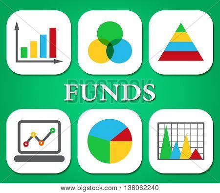 Funds Charts Means Stock Market And Diagram