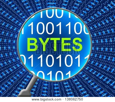 Computer Bytes Indicates Communication Net And Web